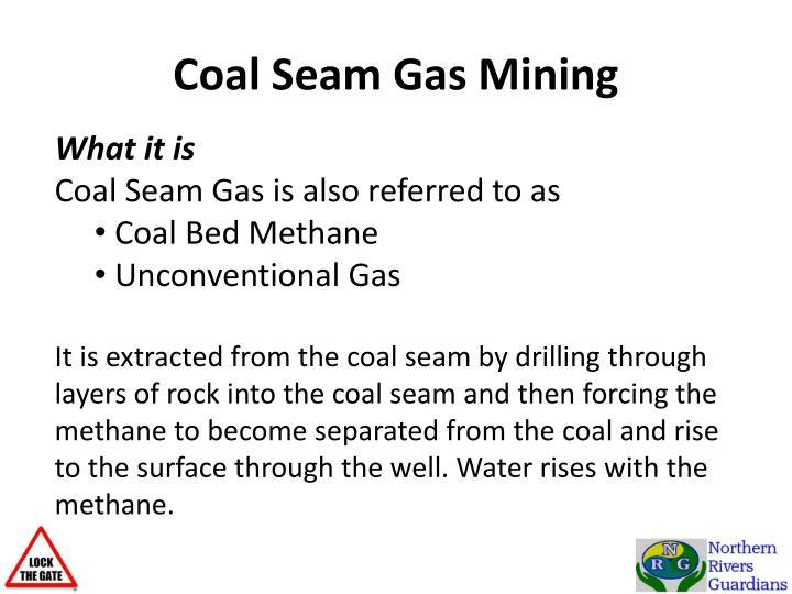 Coal Seam Gas Mining