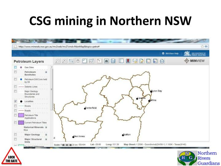 CSG mining in Northern NSW