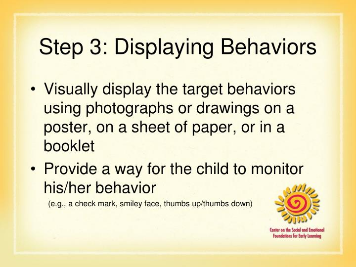 Step 3: Displaying Behaviors