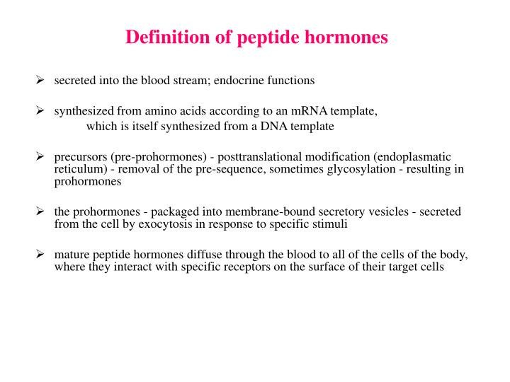 Definition of peptide hormones