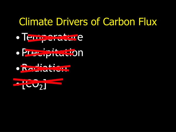 Climate Drivers of Carbon Flux