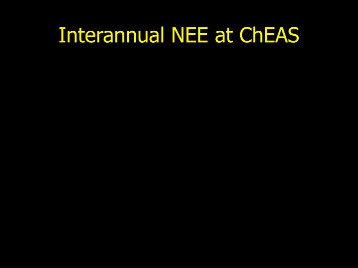 Interannual NEE at ChEAS
