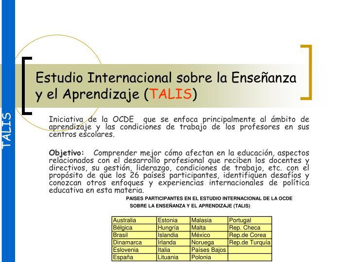 Estudio Internacional sobre la Enseñanza y el Aprendizaje (