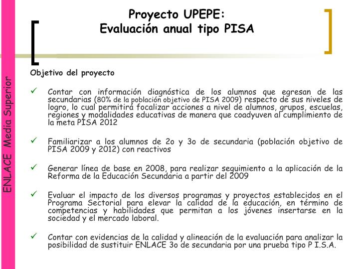 Proyecto UPEPE: