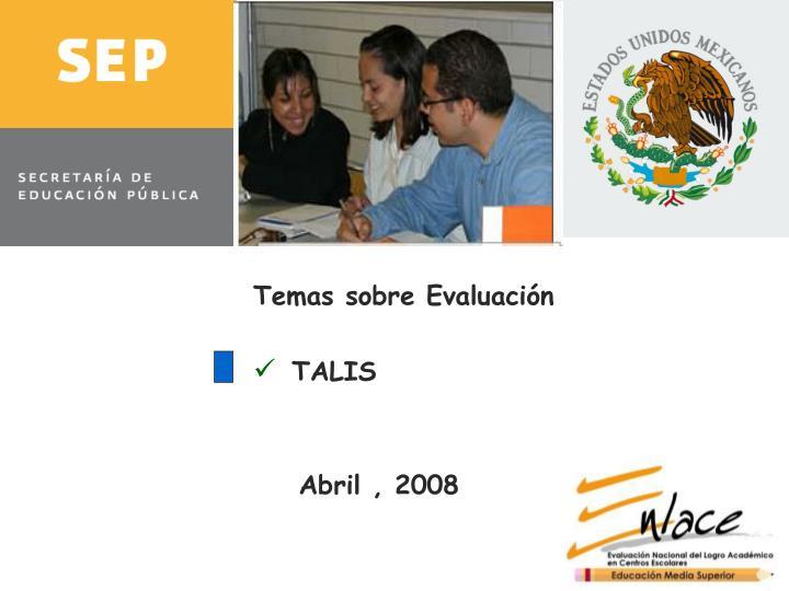 Temas sobre Evaluación