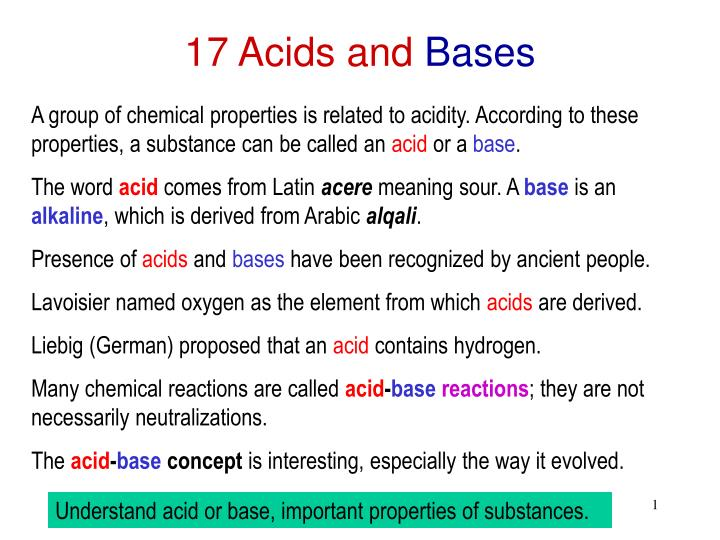 17 acids and bases