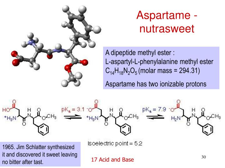 Aspartame - nutrasweet
