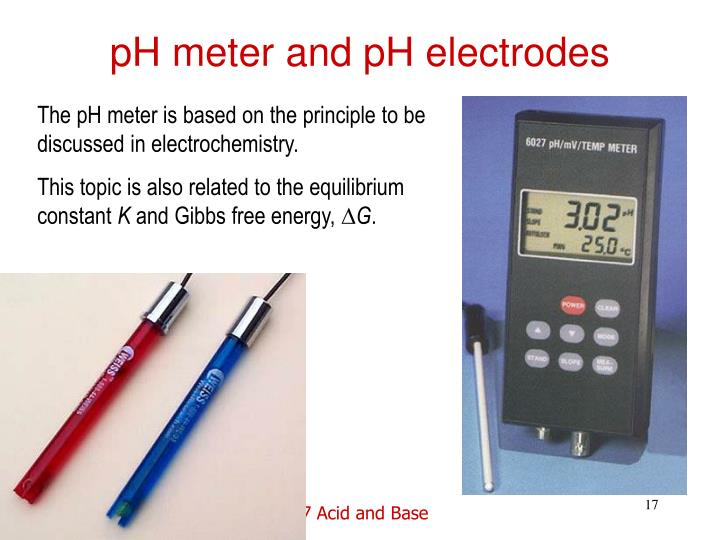 pH meter and pH electrodes