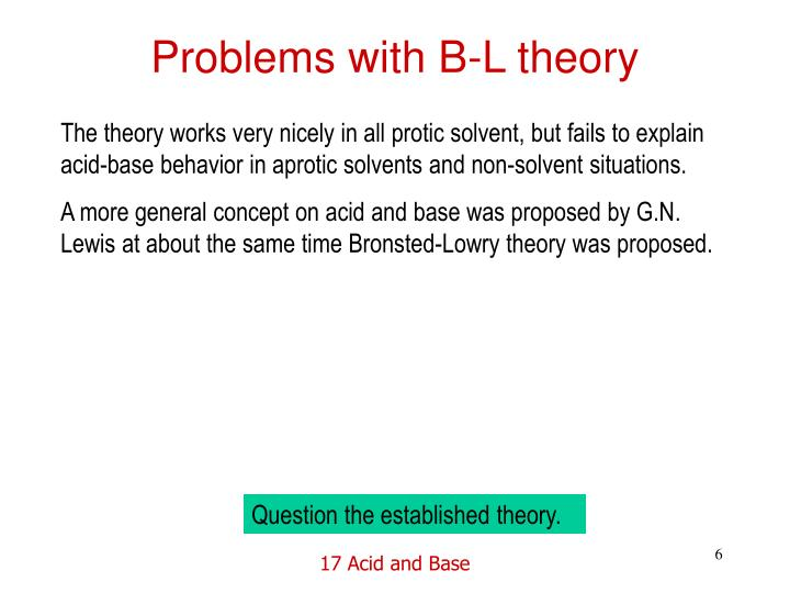 Problems with B-L theory