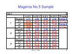 magenta no 5 sample
