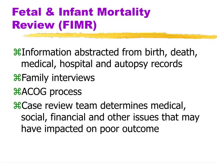 Fetal & Infant Mortality Review (FIMR)