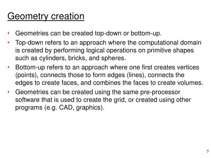 Geometry creation