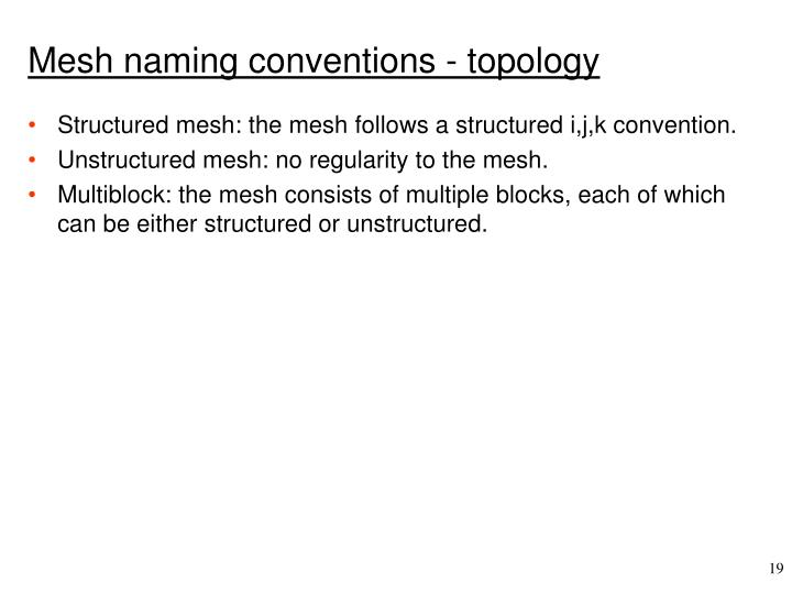 Mesh naming conventions - topology