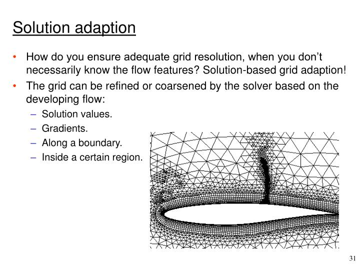 Solution adaption