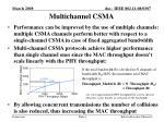 multichannel csma