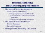 internal marketing and marketing implementation