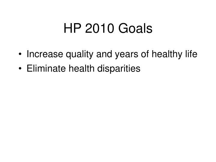 HP 2010 Goals