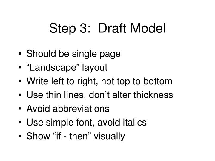 Step 3:  Draft Model