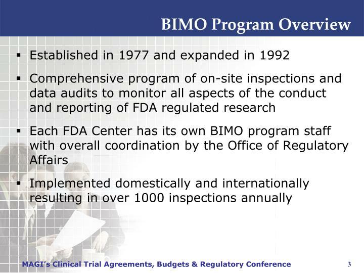 BIMO Program Overview
