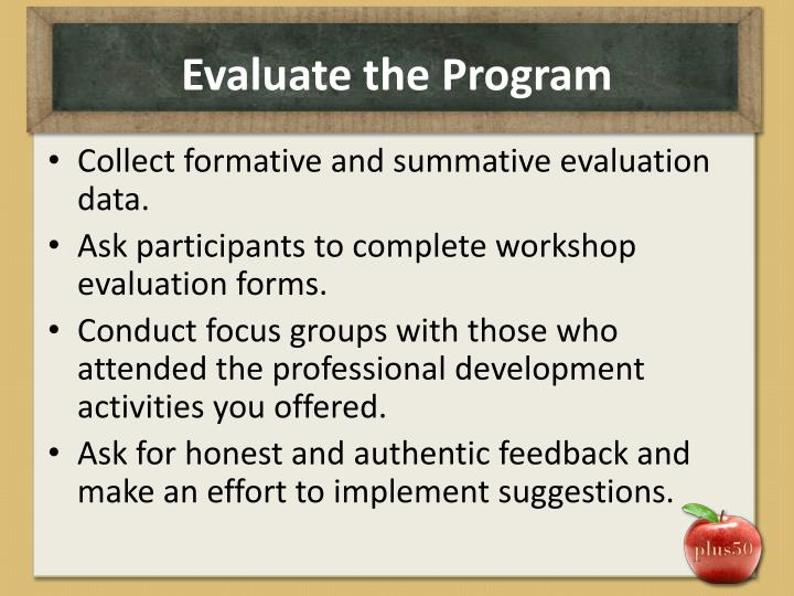 Evaluate the Program