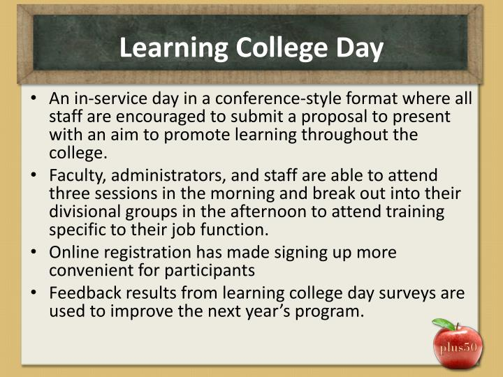 Learning College Day