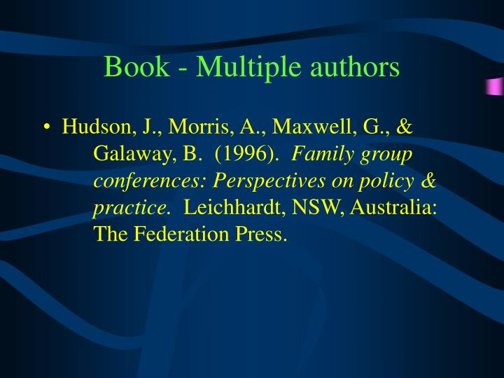 Book - Multiple authors