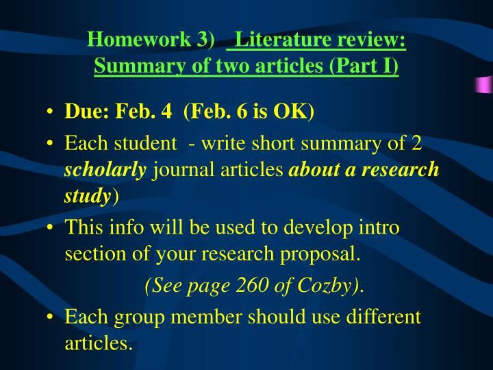 Homework 3)