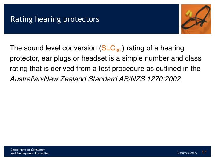 Rating hearing protectors