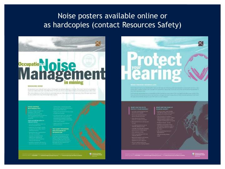 Noise posters available online or