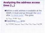 analyzing the address access time t aa