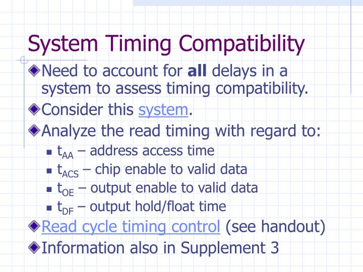 System Timing Compatibility