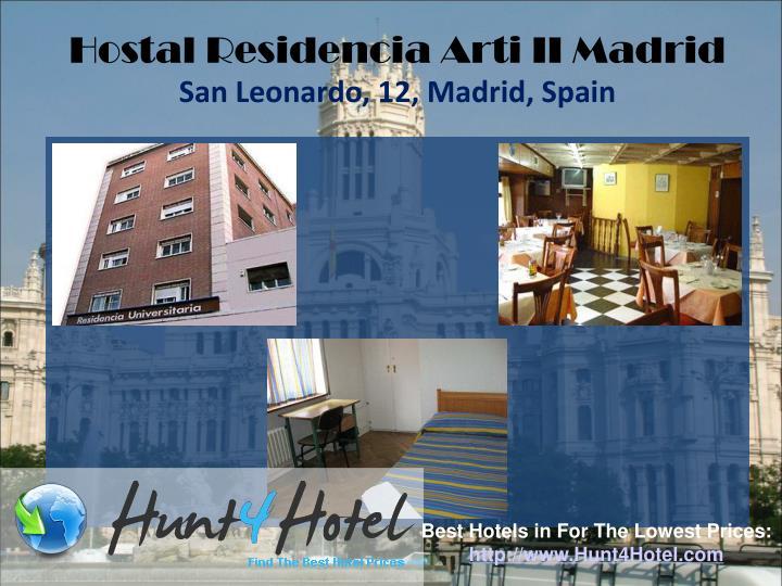 Hostal Residencia Arti II Madrid
