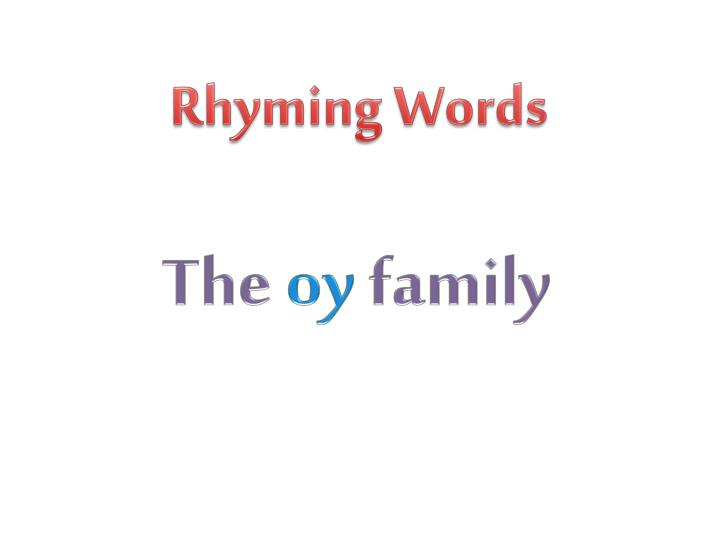 Rhyming Words