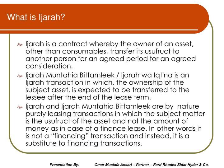What is Ijarah?