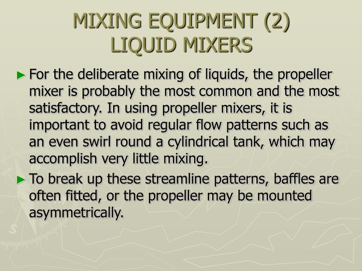 MIXING EQUIPMENT (2)