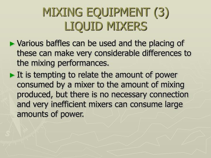 MIXING EQUIPMENT (3)
