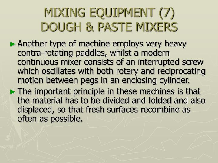MIXING EQUIPMENT (7)