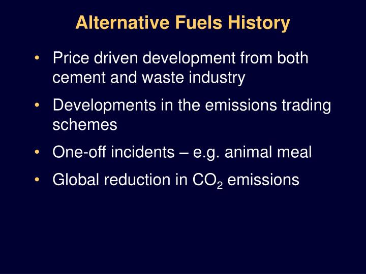 Alternative fuels history