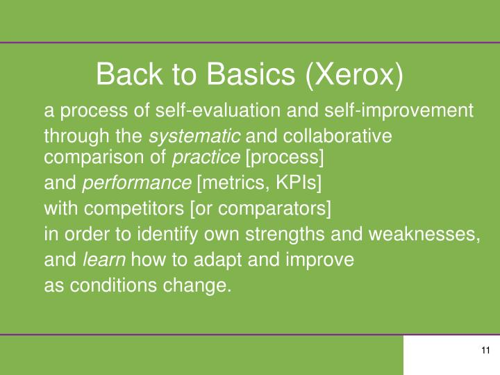 Back to Basics (Xerox)