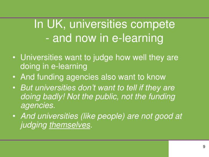 In UK, universities compete