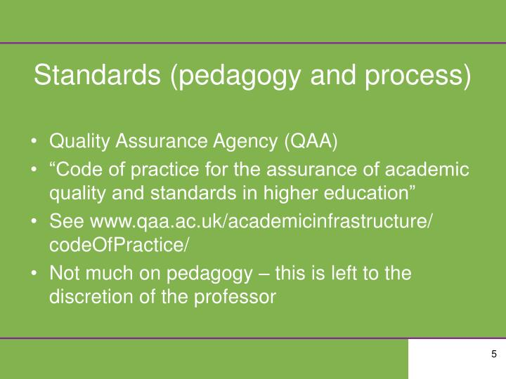 Standards (pedagogy and process)