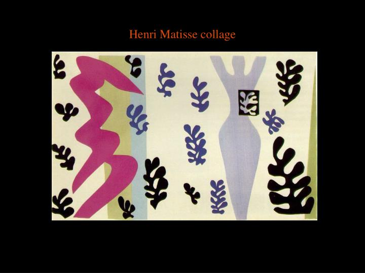 Henri Matisse collage
