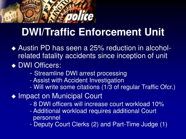 DWI/Traffic Enforcement Unit