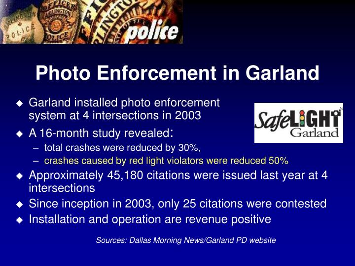 Photo Enforcement in Garland