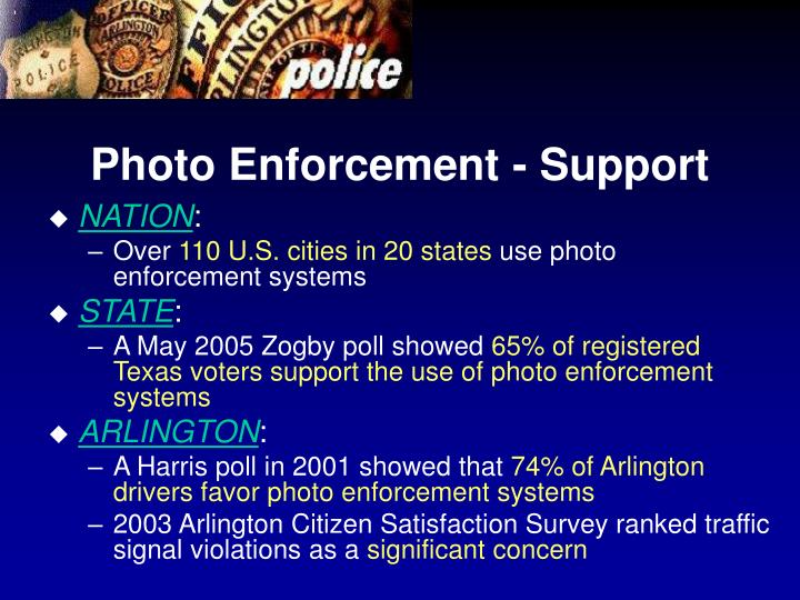 Photo Enforcement - Support