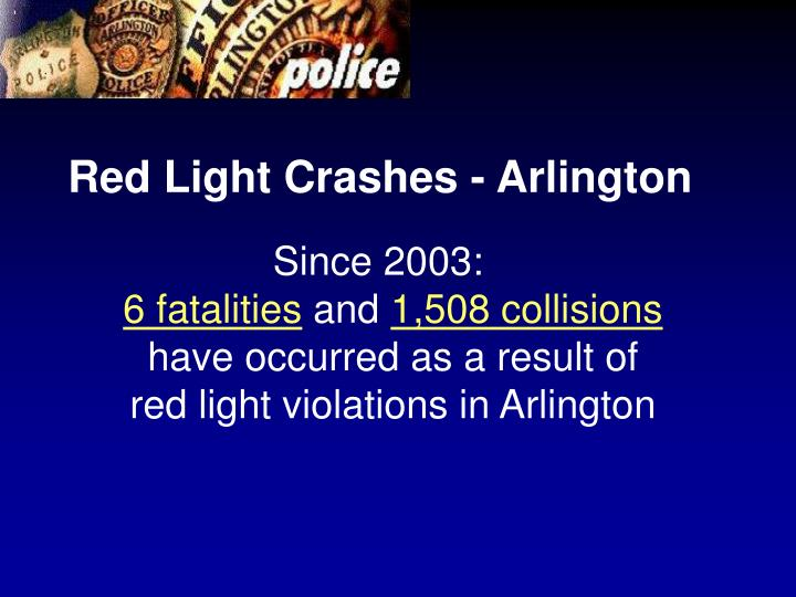 Red Light Crashes - Arlington