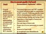 how to execute quality civil work