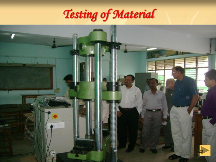 Testing of Material