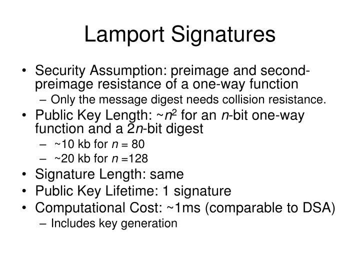 Lamport Signatures