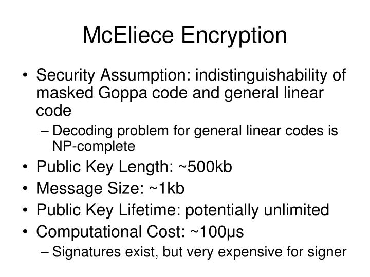 McEliece Encryption